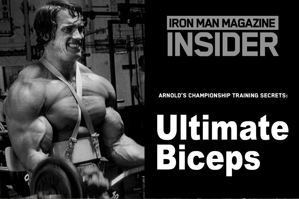 Arnolds championship training secrets sky high bis iron man this special feature honors arnolds 67th birthday on july 30and what better way to party than to train biceps with the oak gene moze was there malvernweather Image collections